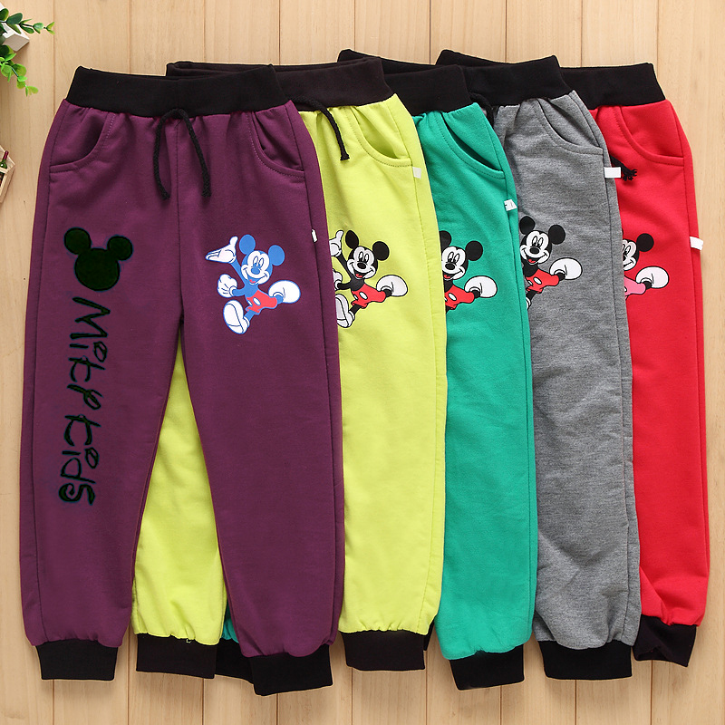 Spring Autumn Cotton mickey Boys Pants Girls Pants For Girls Kids Sports Trousers Baby Pants Sweatpants Children Pants Clothes ...