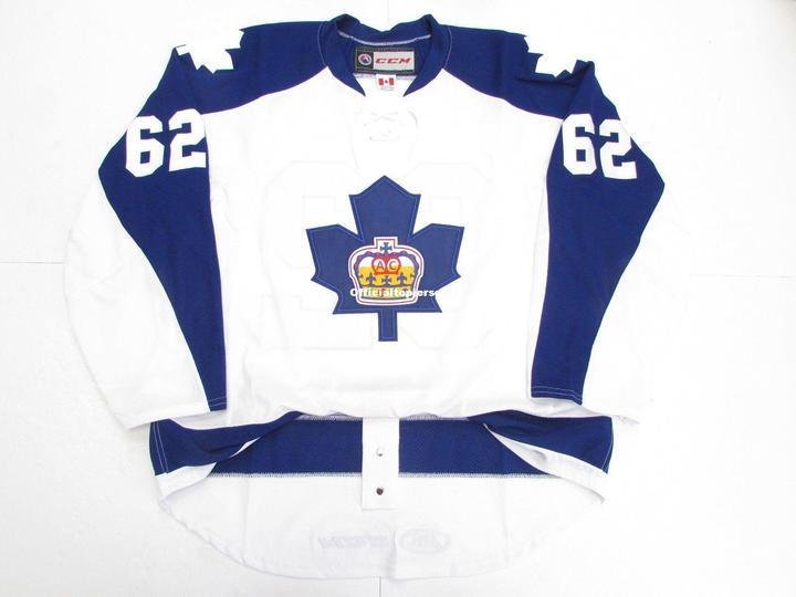 William Nylander #62 Marlies Toronto Terceiro Premier Branco Personalizado Duplo Costurado Jerseys