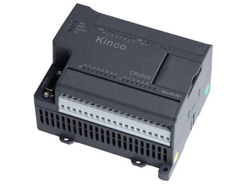 New K506-24AR PLC CPU AC85-265V power supply 14DI 10DO relay k506ea 30at kinco plc cpu ac85 265v power supply 14di 4ai 10do 2ao transistor new original