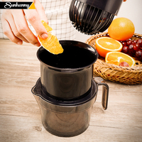 Sunhanny 수동 감귤류 juicer 오렌지 레몬 handhold 압착기 라임 과일 프레스 어린이를위한 100% 원래 주스 건강한 생활