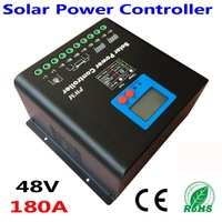 180A 48V solar charge controller for use off grid solar power system! Solar Charge Controller with LED&LCD Display