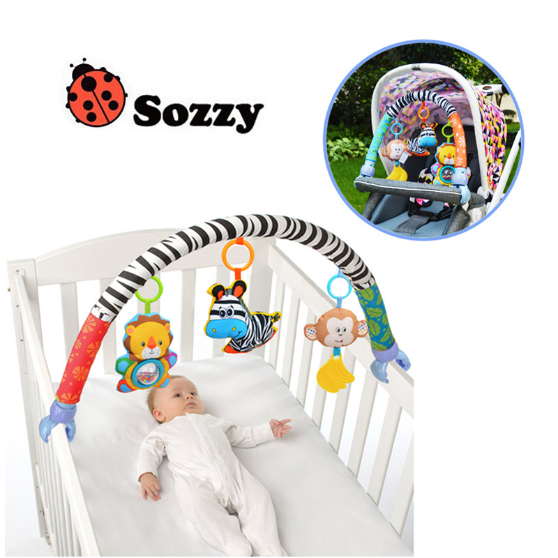 Sozzy Baby Hanging Toys For plush Stroller Mobile Rattles