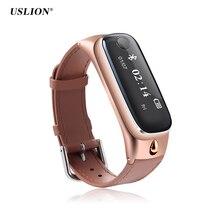 Uslion M6 спортивные Смарт-часы браслет Bluetooth 4.0 гарнитура наушники фитнес-трекер Браслет монитор для iOS андроид