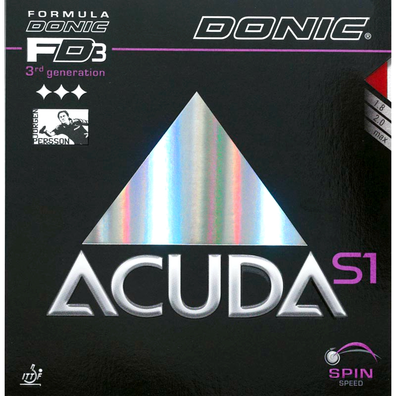 Donic Acuda S1 S2 S3 Table Tennis Rubber Pimples In With Ping Pong Sponge Tenis De