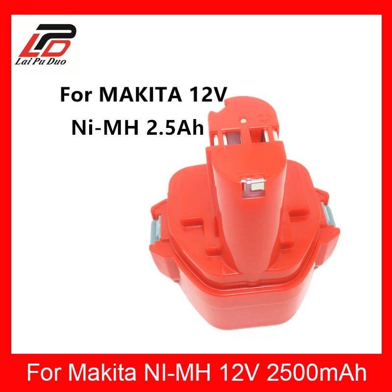 12 v 2.5Ah Batterie Rechargeable Pack Outils Électriques Batterie de Remplacement Sans Fil pour Makita Mak Forage 12 v 1050D Ni-MH DWDE