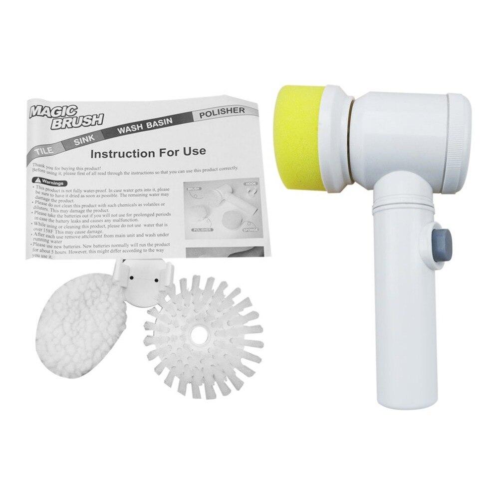 New 5 In 1 Multifunctional Household Kitchen Bathroom Cleaning Brush Tools Handheld Electric Magic Washing Brush Cleaner Machine