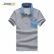 Covrlge New 2018 Brand POLO Shirt Men Cotton Fashion Chest Pocket Solid Color Summer Short-sleeve Casual Shirts MTP054