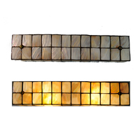 20 Vintage Tiffany Style Stained Shell Wall Sconces Modern Simple Cube Wall Lights Lighting Bathroom Mirror Front Lamps WL318