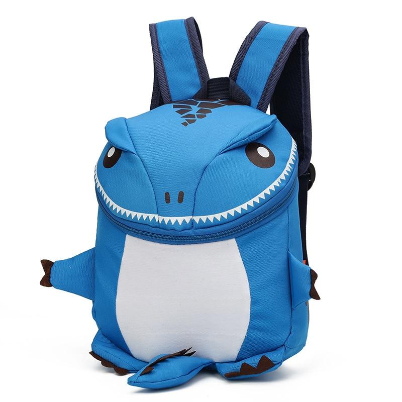 Hot Sale 2 4 Yrs Children Funny Cartoon Dinosaur Backpack Schoolbag