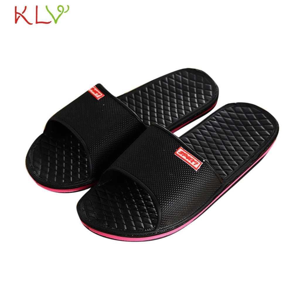Mannen Schoenen Solid Platte Bad Slippers Zomer Sandalen Indoor Outdoor Slippers Casual Mannen Antislip Flip Flops Strand Schoenen 41-44 18Dec