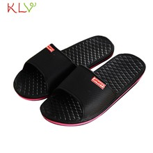 Men Shoes Solid Flat Bath Slippers Summer Sandals Indoor Outdoor Slippers Casual Men Non-Slip Flip Flops Beach Shoes 41-44 18Dec(China)