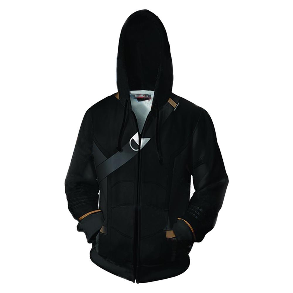 Avengers Endgame Cosplay Hoodie Hawkeye Zip Up Hoody Hoodie Jacket Coat 3D Print Sweatshirt