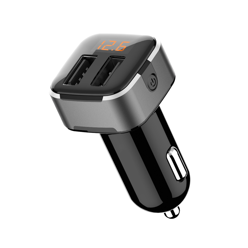 WhatsKey Car USB Charger Quick Charge Mobile Phone Charger 2 Port USB Fast Car Charger For iPhone Samsung Xiaomi Tablet Charger