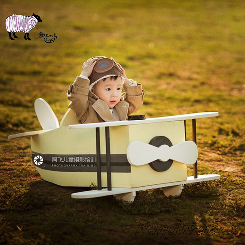 Kids Wooden Airplane Newborn Photography Props Baby Boy Girl Pilot Photo Shoot Studio Posing Aircraft Basket Infant foto PropsKids Wooden Airplane Newborn Photography Props Baby Boy Girl Pilot Photo Shoot Studio Posing Aircraft Basket Infant foto Props