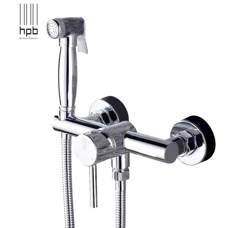 Здесь продается  HPB Brass Bathroom Toilet Portable Spray With Shower Holder Handheld Bidet grifo ducha Bidet Faucet   Строительство и Недвижимость