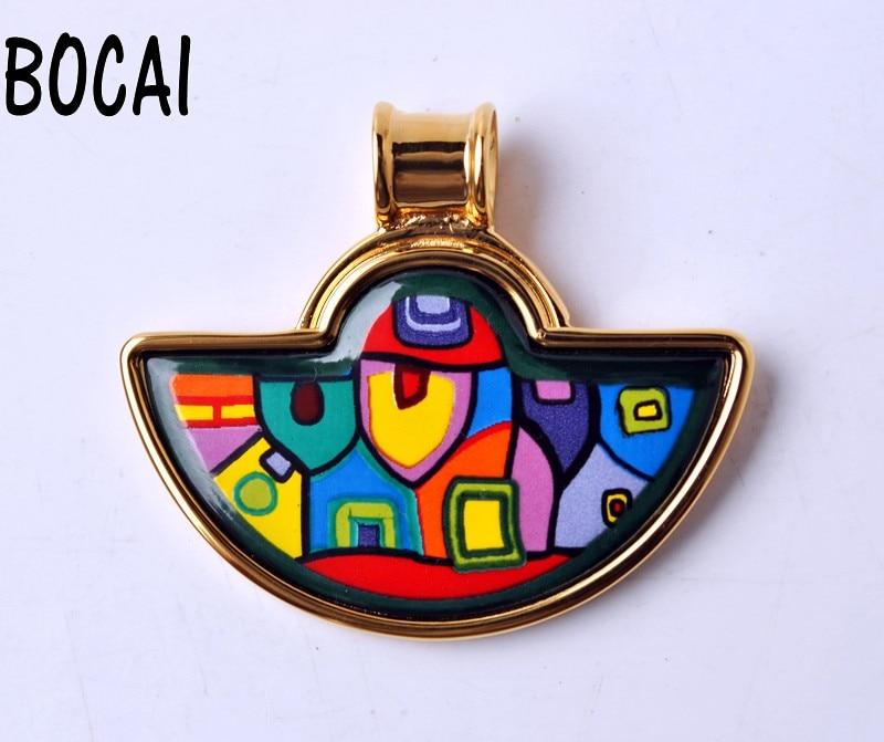 European and American style jewelry cloisonne handmade craft pendant cloisonne jewelry enamel round ring european and american style