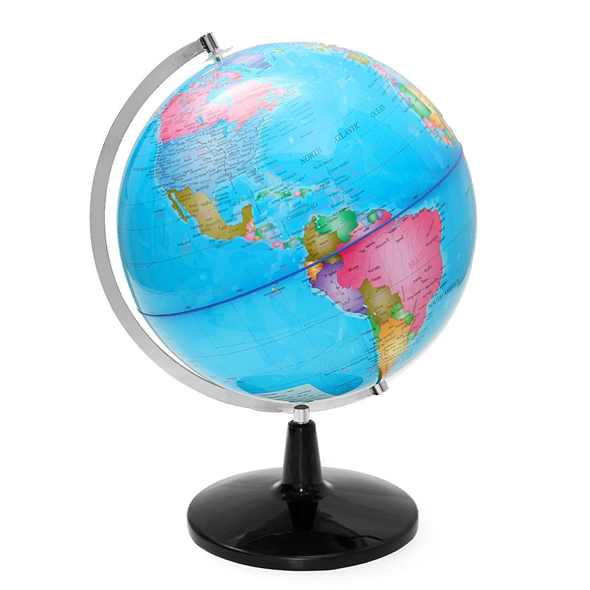 32 cm Électrique LED Lumière Monde Globe Terre Carte Enseigner L'éducation Géographie Toy Terrestre Tellurion Globe home Office Décor de Bureau - 3