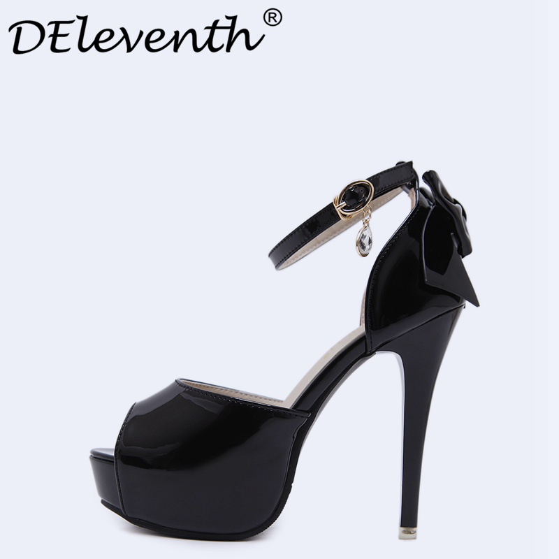 2018 New Summer Sexy Women High Heels Sandals Fashion Stripper Shoes Party Pumps Shoes Woman Platform Sandals Black White Pink xiaying smile summer new woman sandals platform women pumps buckle strap high square heel fashion casual flock lady women shoes