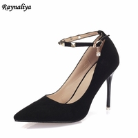 85a104863 Ladies Party Wedding Pumps Women Sexy Pointed Toe Rivets High Heels Fashion  Buckle Pump Wedding Party