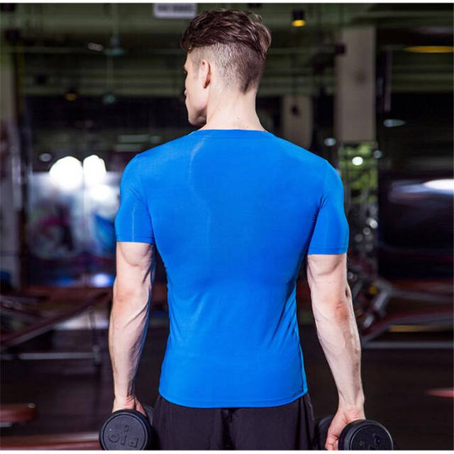 Men Wicking&Quick-Dry T-Shirt,Elastic Compression Tight Short Sleeve Underwear Undershirts,Sporting V Neck Shirts,Anti Wrinkle