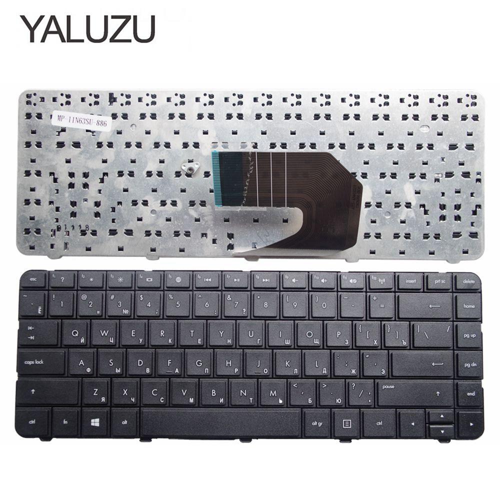YALUZU Новая русская клавиатура для HP compaq presario Cq43 Cq57 CQ58 G6-1000 G4-1000 ноутбук русская клавиатура черная RU раскладка черная