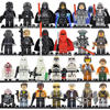26pcs Lot Hot Star Wars Figure Set Ahsoka Tano Obi Wan Han Sole Leia Yoda Kylo