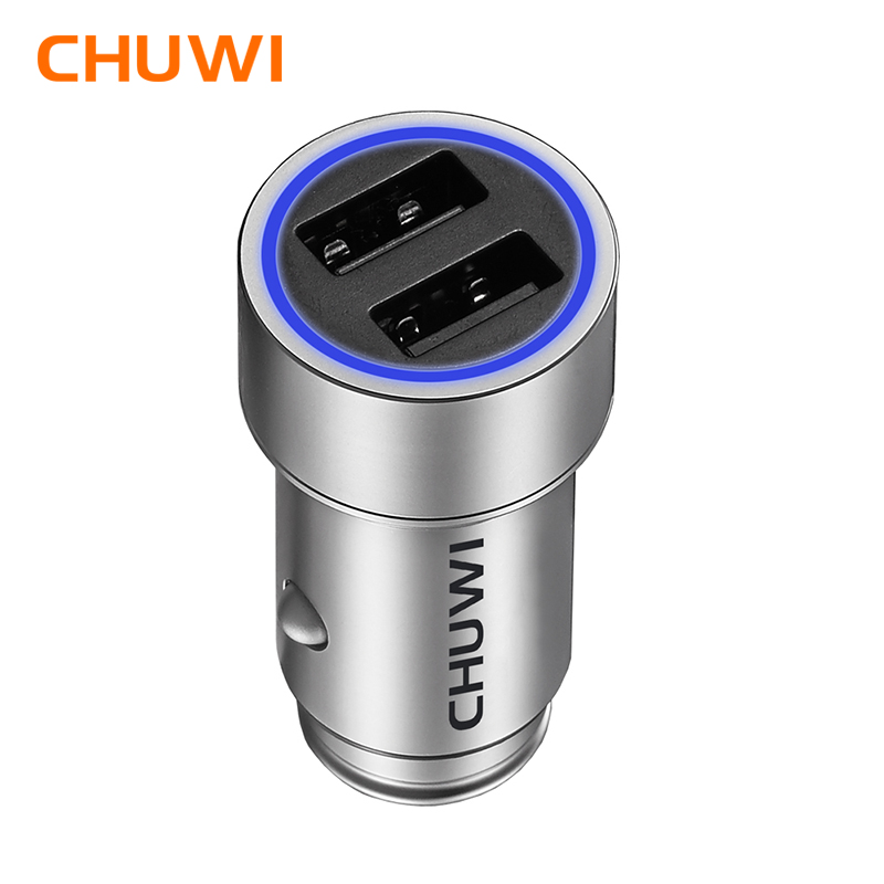 CHUWI Ublue C-100 CNC Portatile Q Caricabatteria Da Auto con Doppia Porta USB Forte Compatibilità con Mini-sized Design Per tablet PC Del Telefono