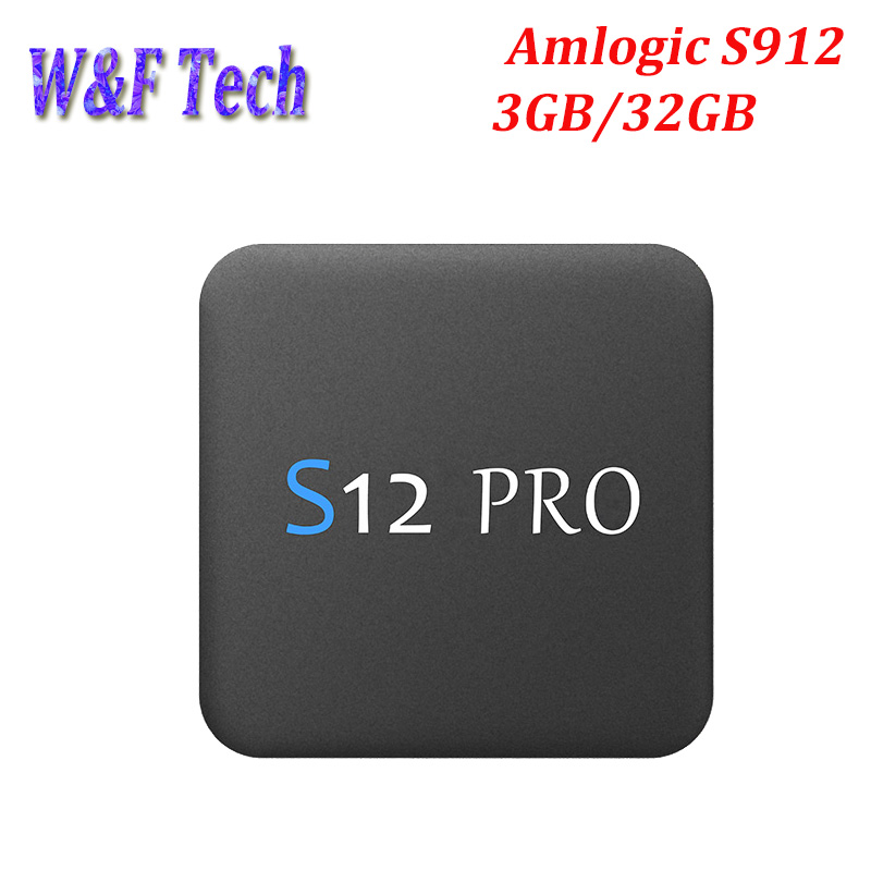 цены S12 PRO 3GB 32GB Android 7.1 TV Box Amlogic S912 Octa Core 2.4/5Ghz Wifi 1000M LAN BT 4K H.265 Smart Media player Set top box