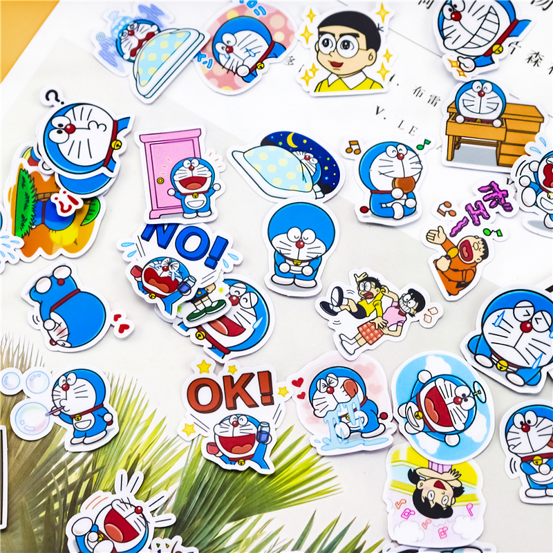 40pcs Creative Kawaii Self-made Cute Doraemon Stickers/beautiful Stickers /decorative Sticker /DIY Craft Photo Albums/phone