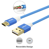 JianHan Reversible Micro USB Cable Fast Micro USB Charger Cable Android Mobile Phone Cables for Xiaomi Samsung S4 S6 LG Sony HTC