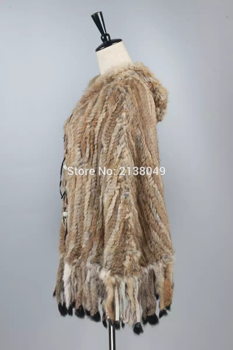 Rapide De Grey Natural Couleur Réel Poncho natural Sf0144 Expédition Naturel Brown Brun Manteaux Stock Fourrure Lapin w8Za7nXx1