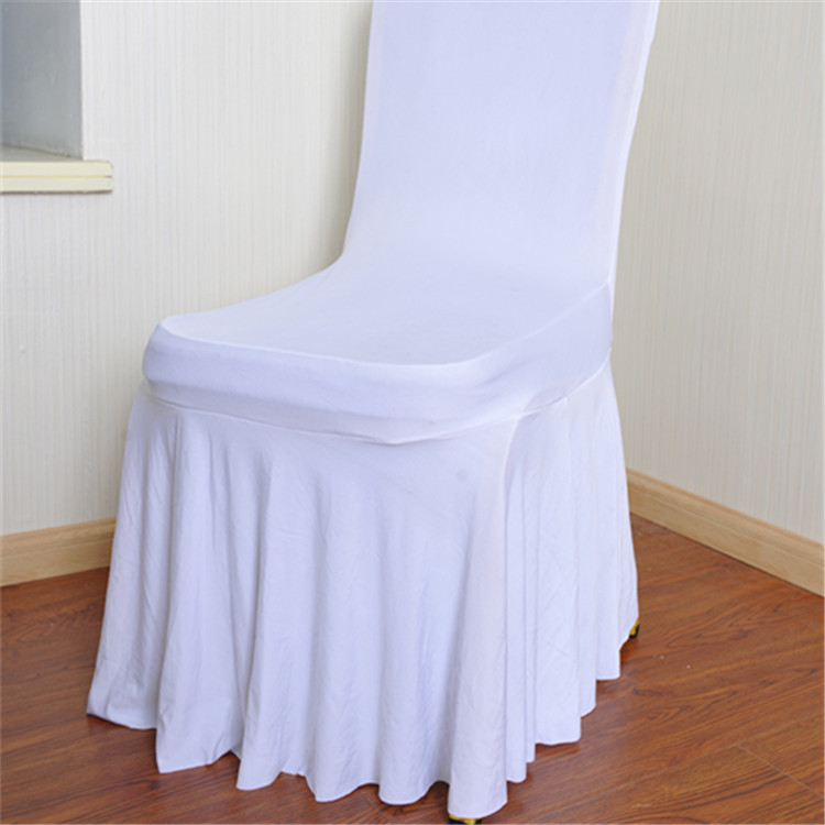 100 PCS Wedding Chair Covers White Stretch Universal Polyester Spandex Chair Cover for Weddings Banquet Restaurant Seat