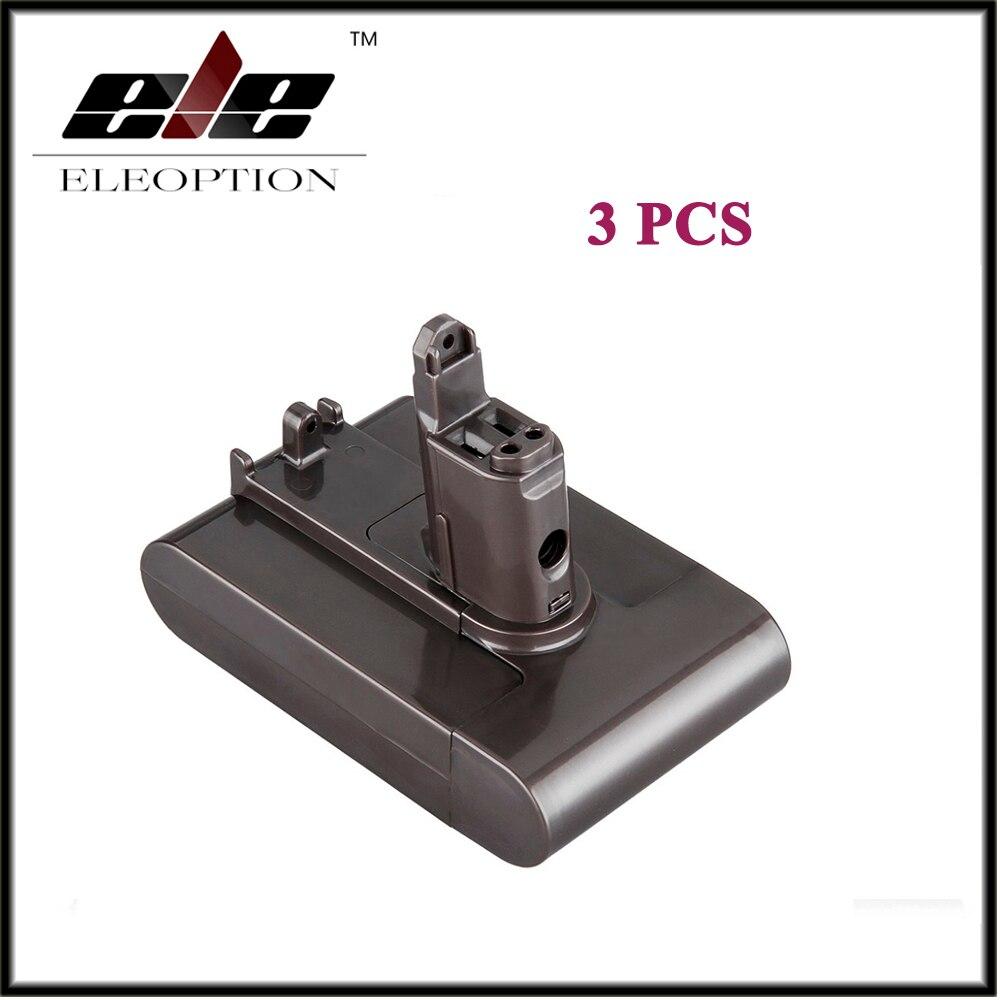 3 Pcs 22 2v 2 0ah Li Ion Eleoption New Replacement Vacuum