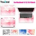 Para MacBook Air 11 13 13 Pro 15 Retina 12 13 15 polegada Computador Adesivos Tampa Da Pele para Macbook Protetora Da Pele + Tampa do Teclado