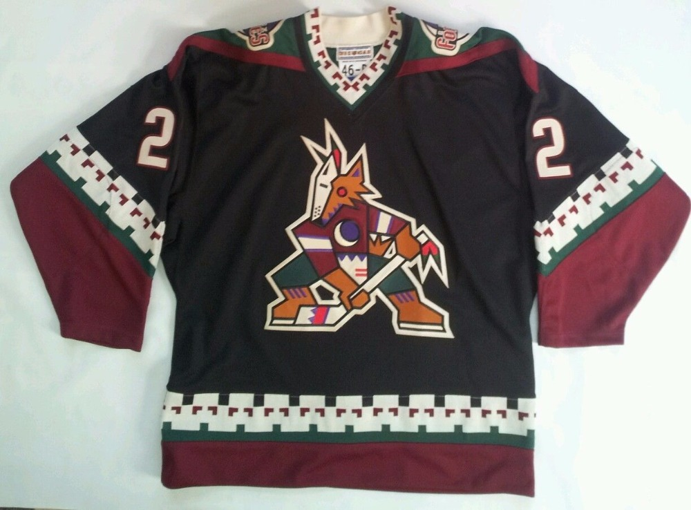 Phoenix Coyotes #22 Rick Tocchet MENS Hockey Jersey Embroidery Stitched Customize any number and name Jerseys