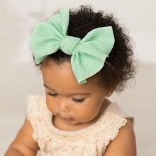 Headbands Toddler Hair-Accessories Photography-Props Bow-Girl Nylon Newborn Kids Elastic