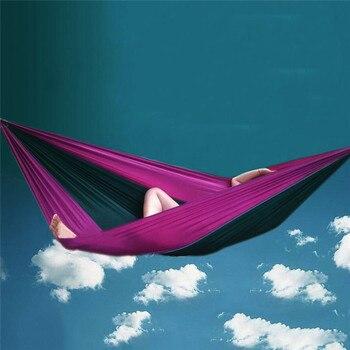 270*130 centimetri Paracadute di Nylon Viaggio Camping Altalena Da Giardino In Tessuto Amaca All'aperto Per Due Persone di Sonno Hang Bed Netto Event & Xmas Supplies Store
