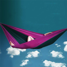 270*130cm Parachute Nylon Fabric Garden Hammock Outdoor Travel Camping Swing For Two Persons Sleeping Hang Net Bed