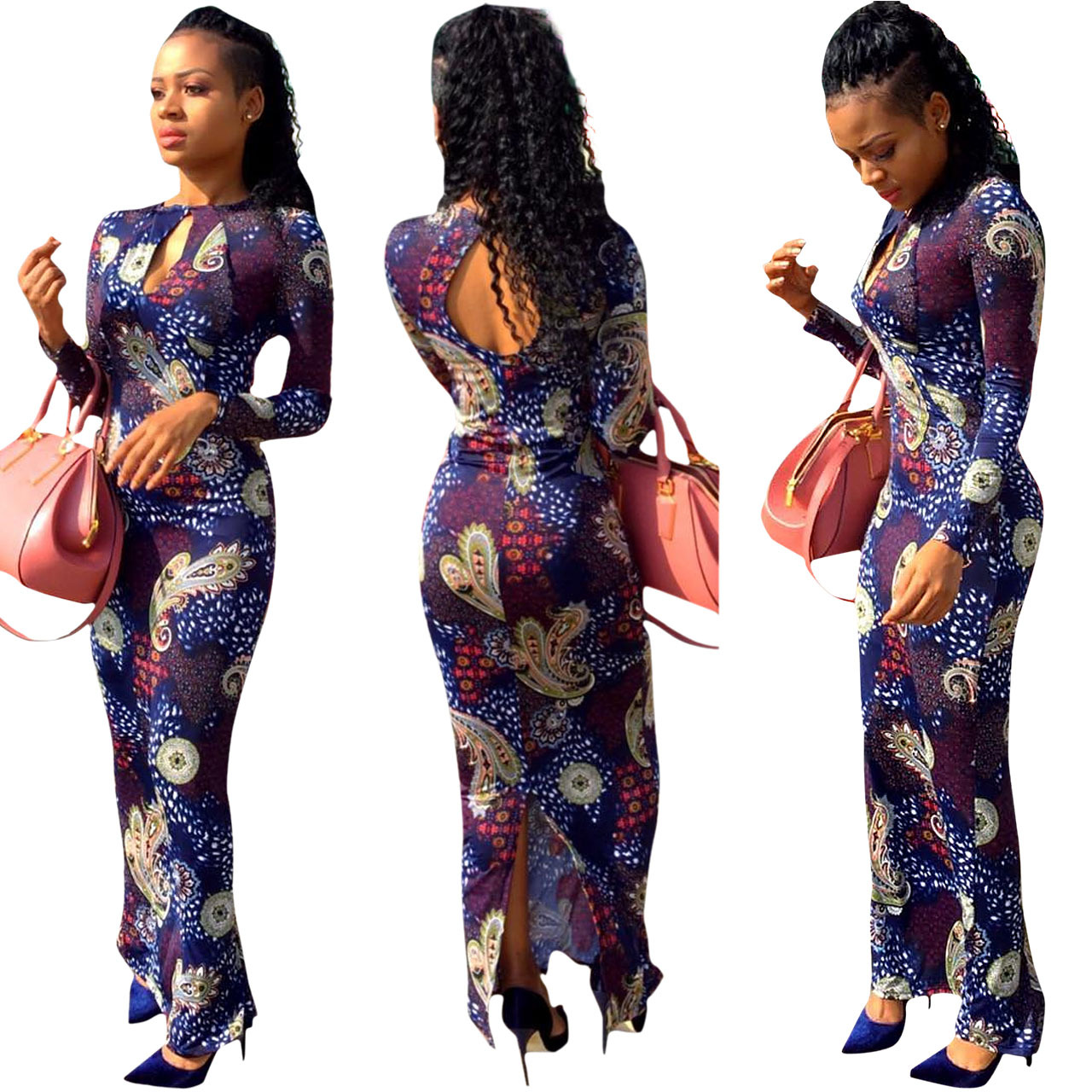 African Women Fashion: 2017 Polyester Rushed 2017african National Wind Digital