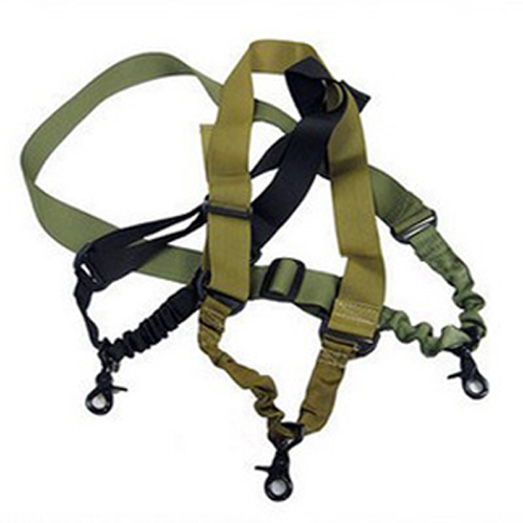 1PC Tactical Single One 1 Point Airsoft Rifle Gun Sling Adjustable Bungee Sling Black Sand Army Green 3 Colors