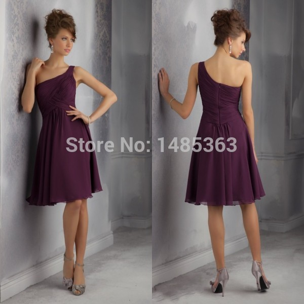 Discount Free Shipping Cwds078 One Shoulder With: Popular Bridesmaid Dresses Free Shipping-Buy Cheap