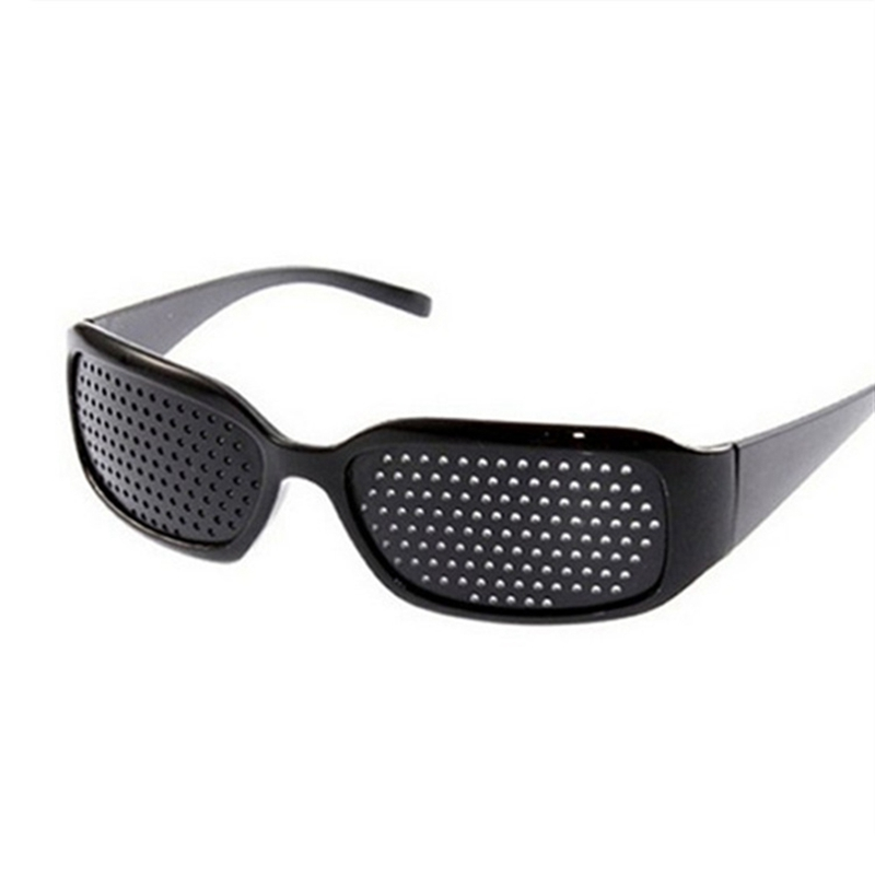 Black Pinhole Glasses Men Women Adult Eye Protect Goggles Pinhole Sunglasses With Hole Resin Lens