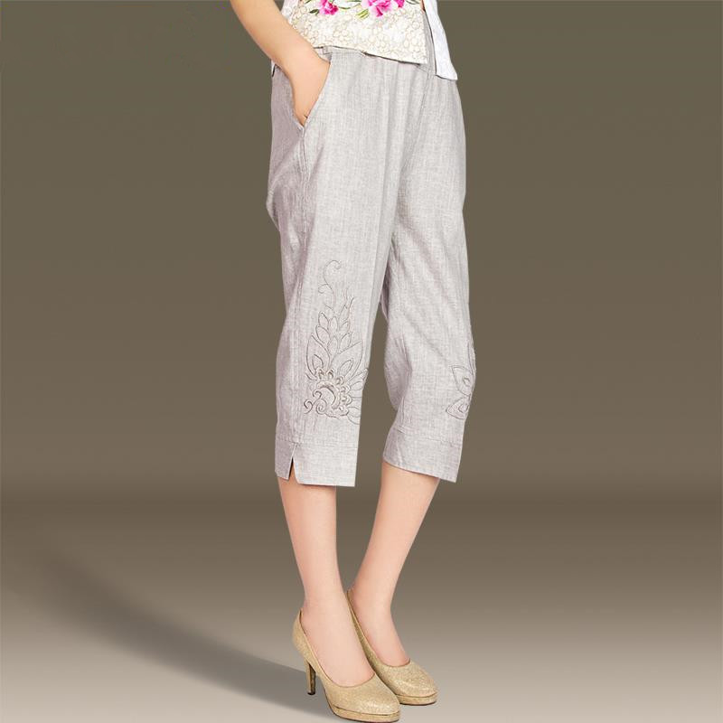 Popular Embroidered Capri Pants-Buy Cheap Embroidered Capri Pants ...