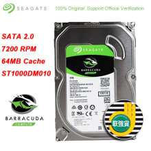Seagate-disque dur interne HDD de 3.5 pouces, BarraCuda, SATA 3.0, facteur de forme, 7200 RPM, 6 Gb/s, 64 mo, Cache