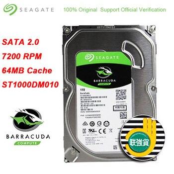"Seagate BarraCuda 1 TB 3.5 אינץ קשיח פנימי כונן SATA 3.0 מארז HDD 7200 סל""ד SATA 6 Gb/s 64MB מטמון כונן קשיח דיסק"