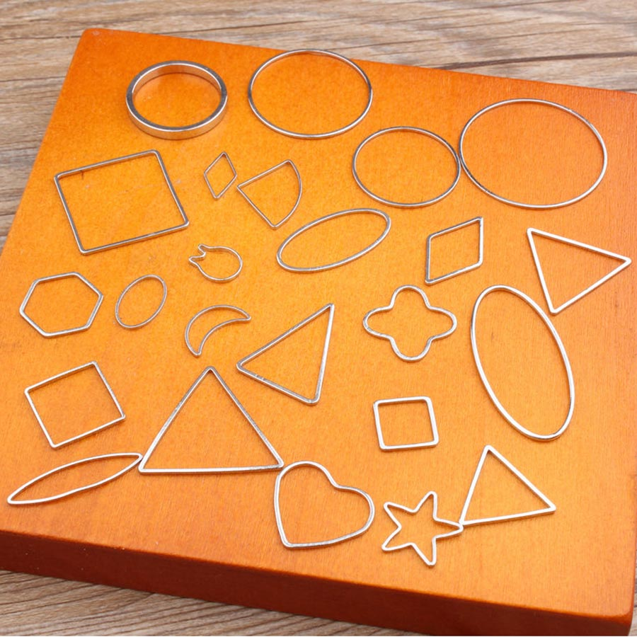 5 Stücke Silber Farbe Kreis Dreieck Quadrat Herz Stern Ohrring Armband Charme Stecker Diy Halskette Anhänger Ring Schmuck Erkenntnisse Feine Verarbeitung