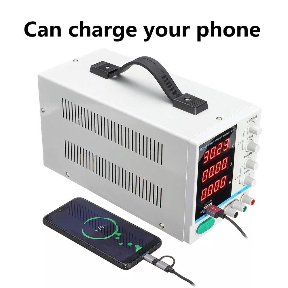 30V 10A alimentation réglable Mini DC tension actuelle régulateur de tension 220V 110V entrée Led affichage numérique laboratoire alimentation