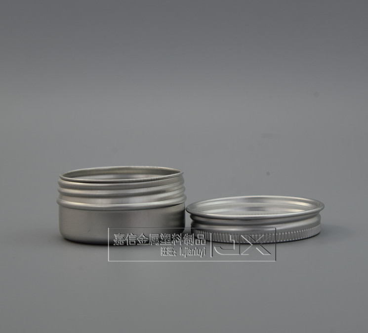 30ml Silver Aluminum Metal Empty Jar Bottle Wholesale Retail Originales Refillable Cosmetic Cream Unguent Empty Containers jars