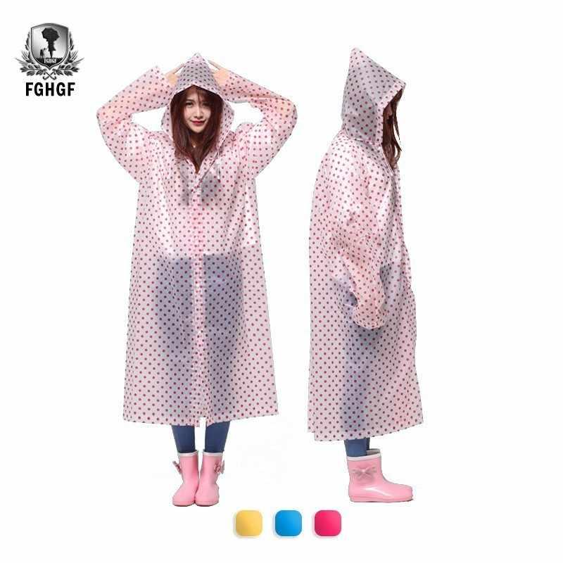 FGHGF мода для взрослых мужчин и женщин свободный размер Dot Портативный длинный прозрачный плащ накидка Туризм Открытый скалолазание ветровка пончо