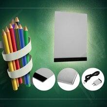 Качество практичное 4 мм 1.5 Вт 5 В A4 LED Light Pad копия площадку планшет для рисования светодиодные Трассировка живописи доска без излучения